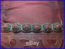CROATIA vintage ethnic filigree solid silver bracelet 53.34 grams