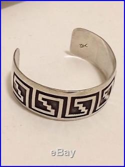 Divine Sterling Silver Overlay Cuff Bracelet By Hopi Artist Honani Watson #80416