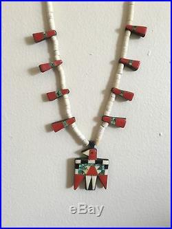 Depression Era Santo Domingo Turquoise Thunderbird Necklace