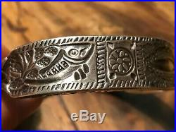 EXCEPTIONAL Signed Antique Silver Tribal Bracelet. JEWLSarts Santa Fe NM