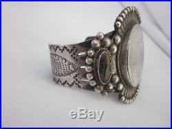 Estate Navajo Coin Silver Cuff Bracelet 7.25 122g