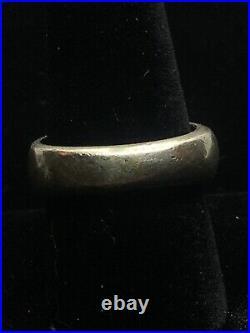 Ethnic Vintage Sterling Silver Large Tribal Ring- Size 10 1/4