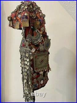 Extraordinary Afghan Turkmen Silver Tribal Headdress Bridal Filigree 937g