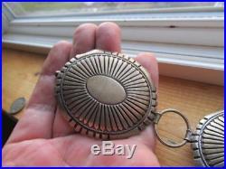 Fantastic Vintage Sterling Silver Navajo Concho Belt Signed LM Weighs 516 gm