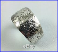 Haida Northwest Coast Native Wide Sterling Silver Bracelet Eagle Orca