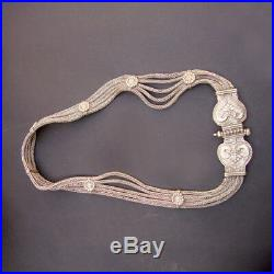 Indian Antique Ethnic Tribal Silver Juda Dance Bridal Kamar Bandh Women Jewelry