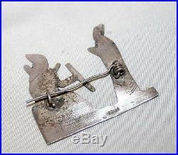 Iraqi Antique Pin Brooch Sterling Silver Niello Iraq circa 1920s