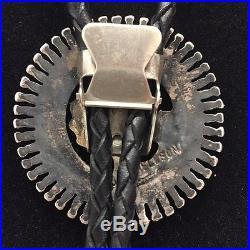 J. S. Bellson Vintage Bolo Zuni Needlepoint Turquoise Sterling
