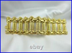 KJL KENNETH JAY LANE Bold Greek Column Bracelet Small Wrist 6-1/2 BOOK PIECE