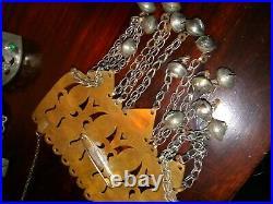 Kuchi Turkaman Tribal Belly Dance Headdress, Breast Plate 2 Bracelets Halloween