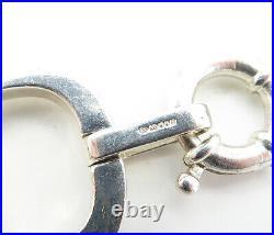 LL ENGLAND 925 Silver Vintage Shiny Polished Open Oval Link Bracelet B8489