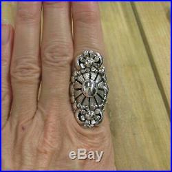 Large Vintage Sterling Silver Ring Size 8.5