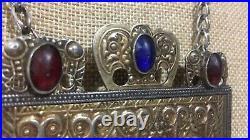 Large Vintage Turkmen Jeweled Regal Desing Pendant Necklace
