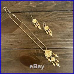 MMA Rare Ancient Etruscan Necklace + Earrings Set