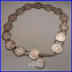 Morgan Silver Dollar Concho Belt Unique