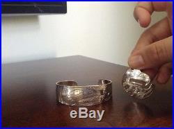 Nancy Dawson native jewellery eagle pendant and bangle sterling silver