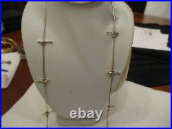 Native American Sterling silver graduated Fetish birds liquid silver necklace