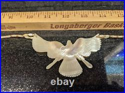 Native Carved Mother of Pearl Thunderbird Phoenix Eagle Dove Necklace UNIQUE