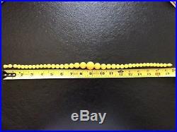 Natural Baltic Egg-Yolk Amber Pressed Beads circa 1950s