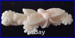Natural Blush Angel Skin Coral For Pendant Antique