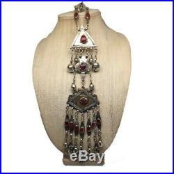 Old Vintage Afghan Turkmen Tribal ATS Tassel Gold-Gilded Pendant/HairClip, TN100