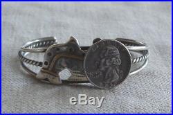 Rare Artisan Vintage Northwest Coast Sterling Silver Whale Cuff Bracelet 25.6 gr