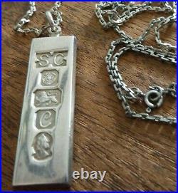 Rare, British, English Sterling Silver Pendant