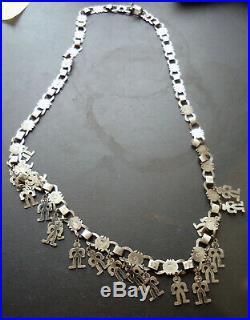 Rare Vintage 925 Silver Trapelacucha Mapuche Chile Ethnic Necklace