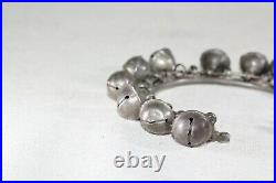 Silver Cuff Bracelet with Many Functioning Bells Vintage