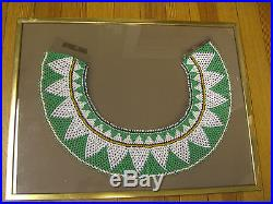 South American Guaymi Indian Beaded Shawl Collar/Charquira c. 1960