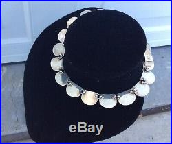 Sterling Silver Lapis Luzuli Collar Necklace