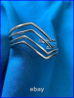 Sterling Silver Lightening Bolt Cuff Bracelets 2 20.8g