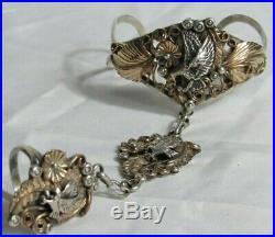 Sterling Silver Slave Cuff Bracelet- Eagles