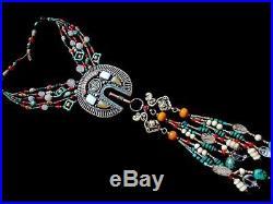 Tibetan Turquoise Coral Lapis Necklace Ethnic Statement Boho