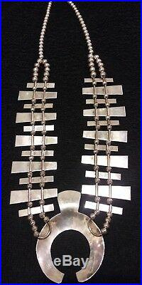 Tommy Singer Indian Squash Blossom Necklace 14K & STERLING SILVER Must See