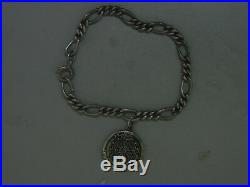 VINTAGE DAUGHTERS OF THE AMERICAN REVOLUTION SILVER CHARM With 8 S/S BRACELET