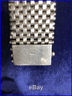Vintage 925 Sterling Silver Mesh Bracelet 104 grams