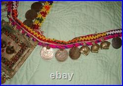 Vintage Afghan Kuchi Camel Pendant Coin Necklace Shoulder Drape Heavy Pashtun