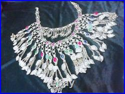 Vintage Afghan large Nomad Chains Choker Haar Necklace from Pakistan