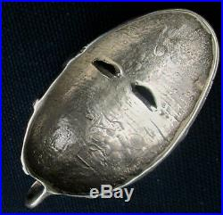 Vintage African Mask Signed FOOTS Sterling Siver Pendant 1.5 by 2.5 wgt. 24 gr