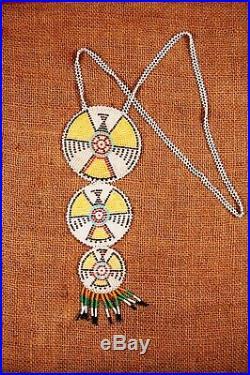 Vintage American Beaded Tribal Pendant