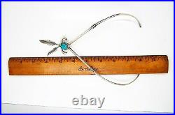 Vintage American Indian Sterling Silver Turquoise Necklace