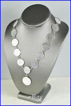 Vintage/Estate-Found Guatemalan/Guatemala Centavos Necklace 34 Huge