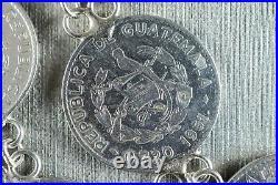 Vintage/Estate-Found Guatemalan/Guatemala Centavos Necklace 34 Huge! (119.3g)
