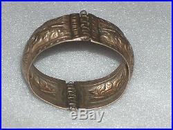 Vintage Ethnic (low Grade)silver Hand-made Bracelet Cuff, Bulgaria