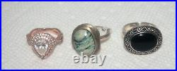 Vintage Hi-End Sterling Silver Jewelry Lot 231 Grams Taxco Mexico + Others