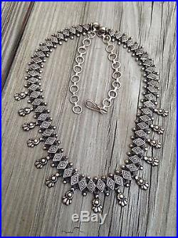 Vintage india tribal ethnic antique old oxidized silver necklace vintage india tribal ethnic antique old oxidized silver necklace marking 925 aloadofball Gallery