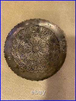 Vintage Metal Ornament With Cabochons 2 5/8 Beautiful Adornment Fashion/jewelry