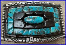 Vintage Native American Navajo Signed Wilson Begay Bolo Tie & Belt Buckle