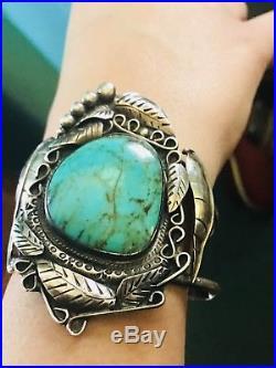 Vintage Navajo Native American Turquoise Bracelet